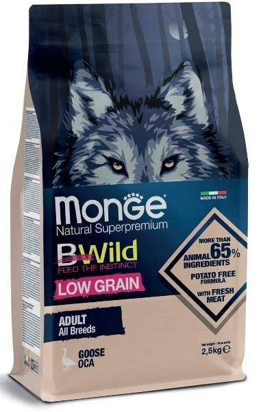 Monge Dog BWild Adult All Breeds (Гусь)